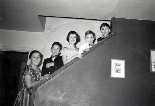 1952, Paulette, Marc, Irène, Bobby et Randy Duncan
