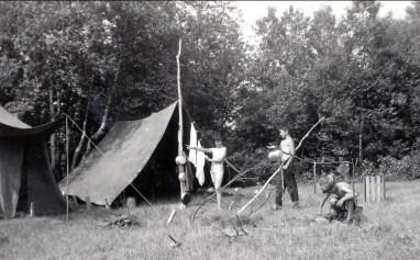 1955, Irène, Marc, Bobby à St-Canut