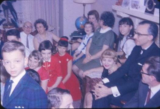 1957, approx fête de famille chez François de Kinder