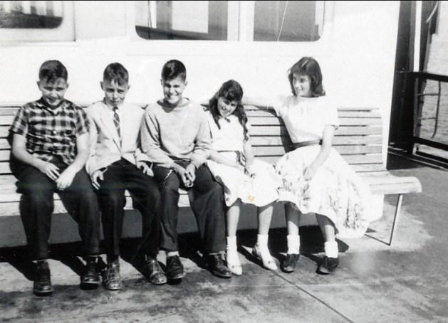 1958, ..., Bobby, Jimmy, Lina, Irène