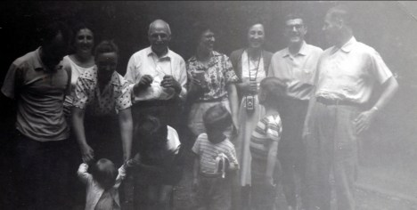 1958, Henriette, Rita, François de Kinder, Gaby, Jeanne, Gérard,