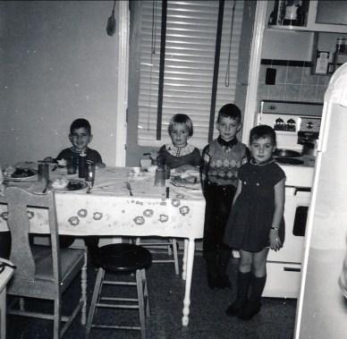 1959, François Sofio, Claire, Richard et Johanne de Lamirande