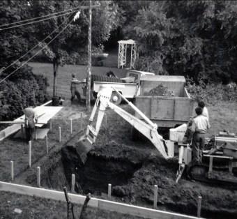 1960, Creusage piscine av des Plaines