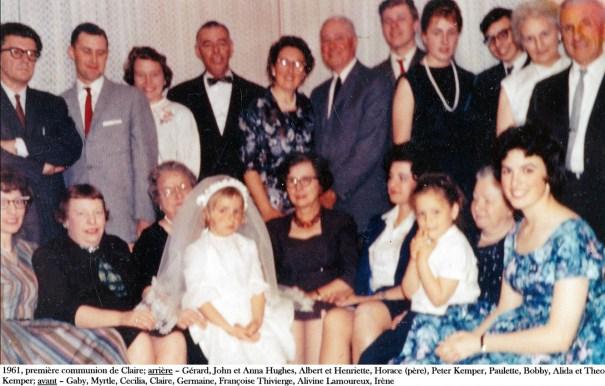 1961, première communion de Claire - incl Anna, Cecilia, Françoise T. copie