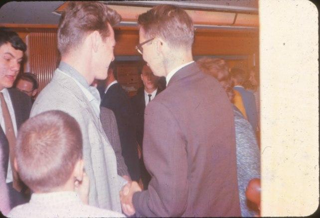 1963, départ - Jean Rivet, Pierre Drapeau et Bobby