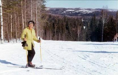 1970, Henriette en ski