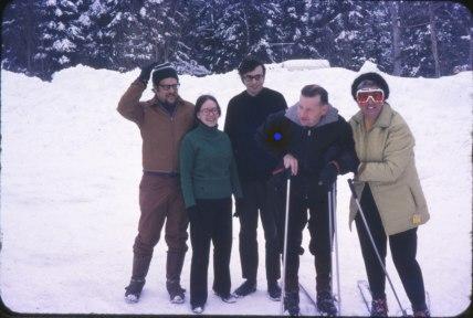1970, approx Al Hausfather, Pauline, Bobby, Otto Gruenefeld et Henriette