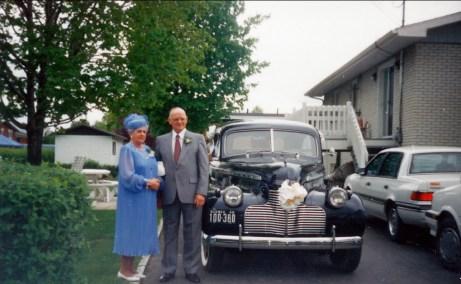 1990, noce d_or - Simone et Albert Bertrand
