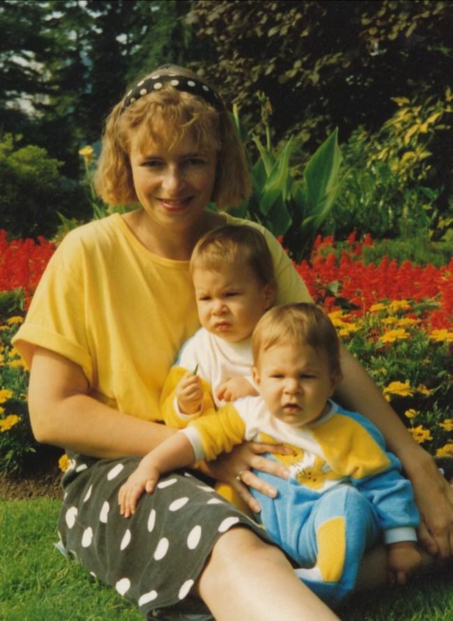 1991, approx Claire, Simon et Hubert