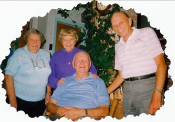 1992, 28 sept - Myrtle, Anna, Albert et Billy George