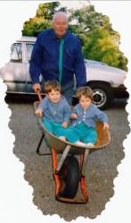 1992, Albert avec Hubert et Simon