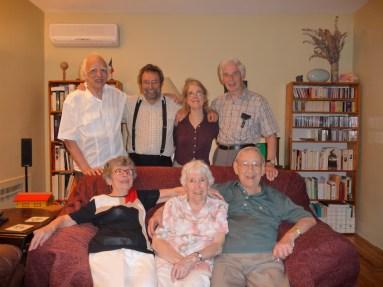 2009-07-08, anniv Gaby - Gaby, Jeanne et Jean-Paul, 2e Maurice, Bobby, Viviane et Louis