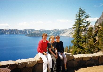 Irène, Mark et Marie-Jo à Crater Lake
