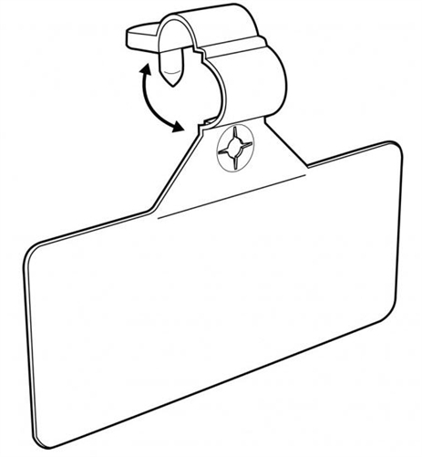 4054 Adhesive Label Holder for Wire Fixtures Fits labels