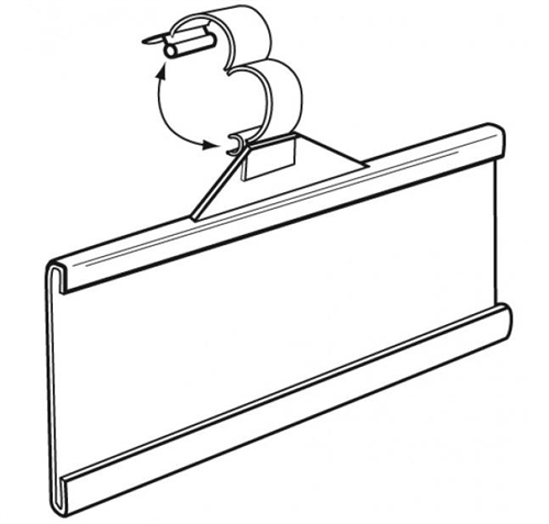 4056 Label Holder for Wire Fixtures Holds ticket up to 1