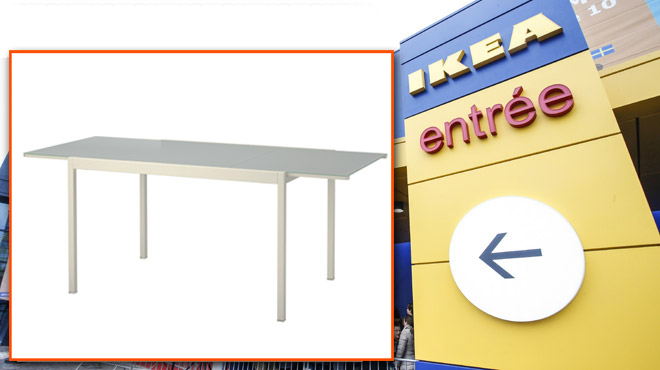 Ikea Rappelle Cette Table Extensible La Rallonge En Verre