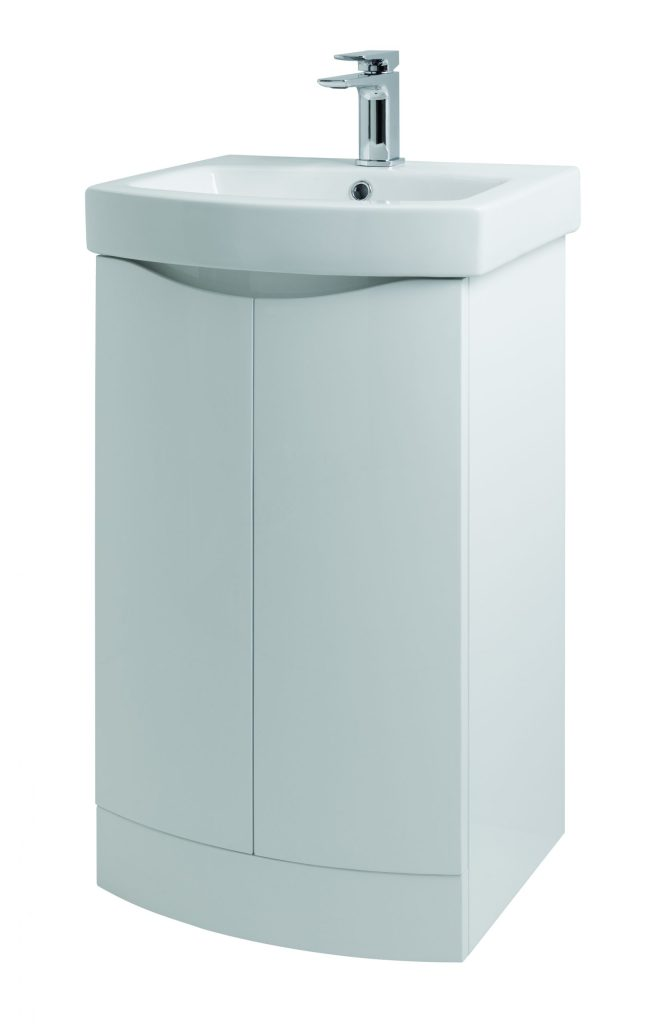 Kalos 500mm Floor Standing - Gloss White (Unit Only)