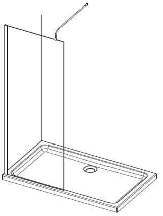 Casanuova Wet Room Extra Height Support Arm