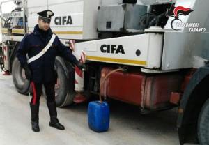 autocarro e tanica gasolio