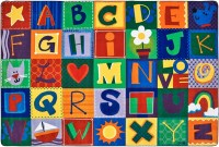 KIDSoft Toddler Alphabet Blocks Rug | Alphabet Area Rug ...