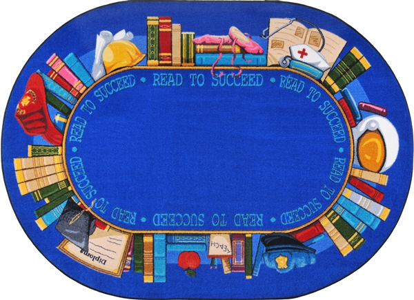 Read to Succeed Rug  Classroom Library Rug  RTR Kids Rugs