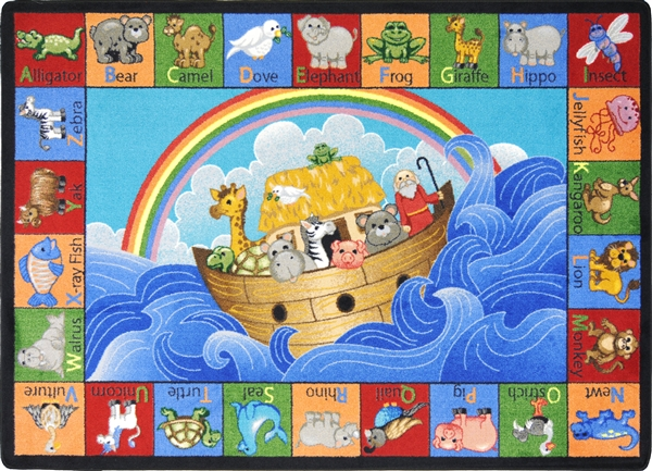 Noahs Alphabet Animals Childrens Rug  JC1610XX  Joy