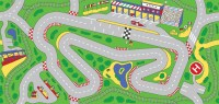 """Racetrack Play Rug Rectangle 36"""" x 80"""" 