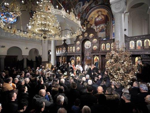 Света архијерејска литургија у Храму Христа Спаситеља (Фото: РТРС)