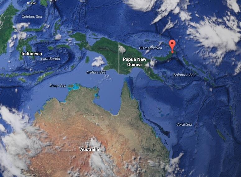 La terre a tremblé à une profondeur à 55 kilomètres de la ville la plus proche, Kokopo, sur l'île de Nouvelle-Bretagne.