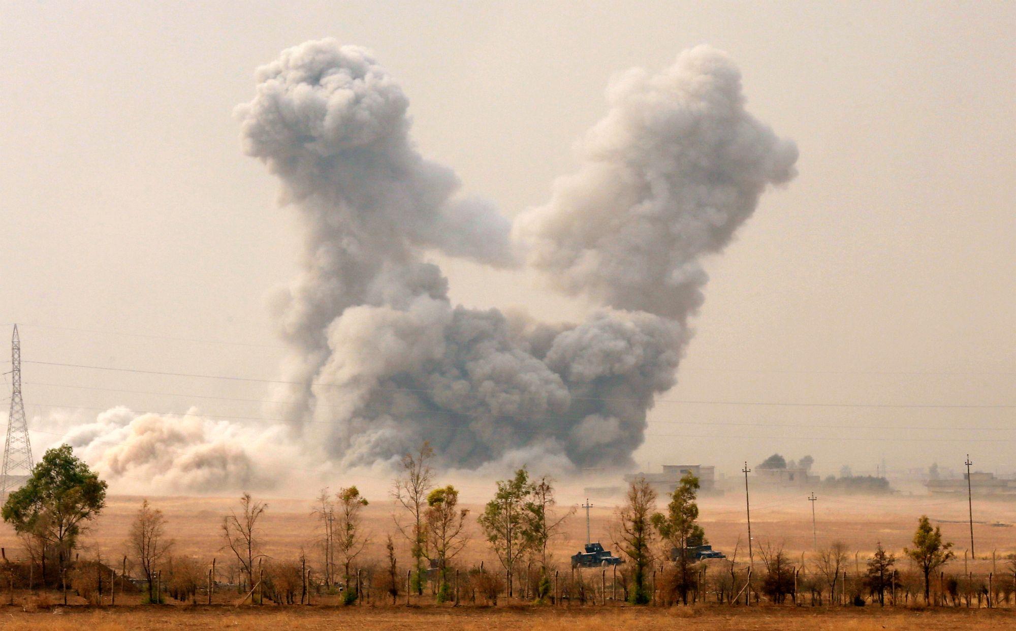 Bombardement américain en Irak en 2016.