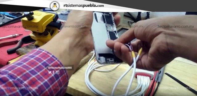 Conectar el cable W103+ al iPhone 6S