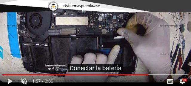Conectar la batería