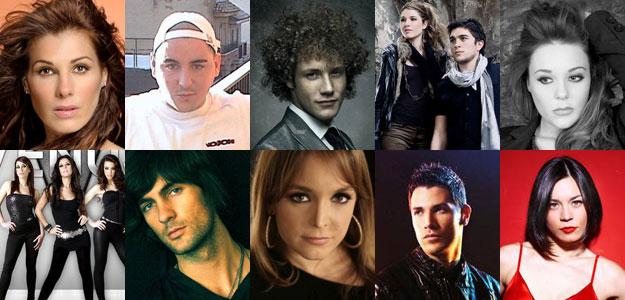 Eurovisión 2010 - Candidatos provisionales