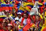 Marcha de apoyo a Chávez en Caracas