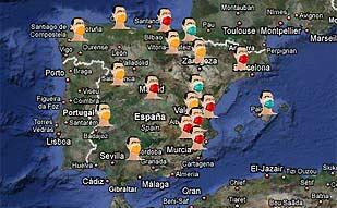 <b><center>Así está la gripe en España</b></center>