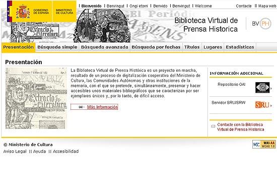 BIBLIOTECA VIRTUAL DE PRENSA HISTÓRICA