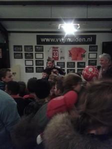 Joël Veltman eerder dit jaar bij 'zijn' club VV IJmuiden.