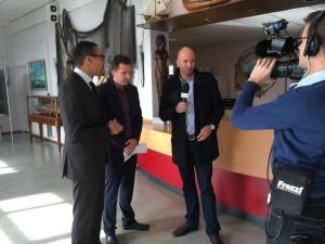 Uiteraard zijn onze verslaggever Mark en Sjoerd aanwezig. Foto: RTV Seaport/Roel Huisman