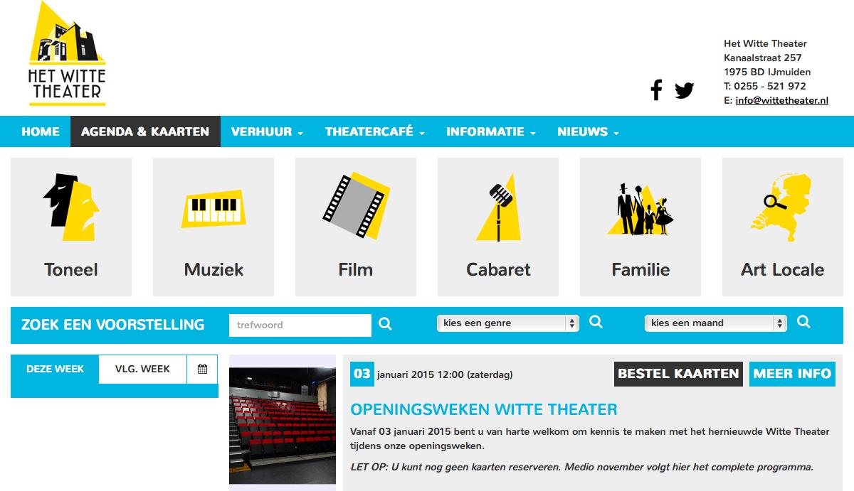 Witte Theater lanceert nieuwe website