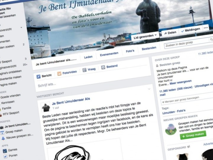 Facebookgroep censureert vechtpartij