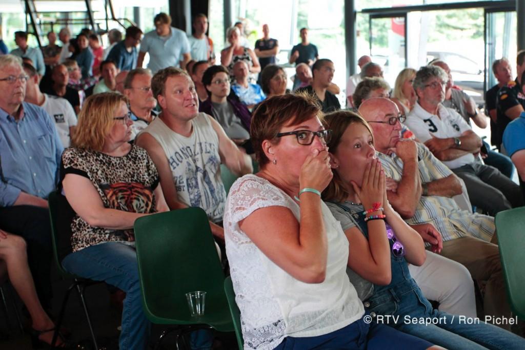 GP Belgie kijken met Jan Lammers bij garage Tinholt