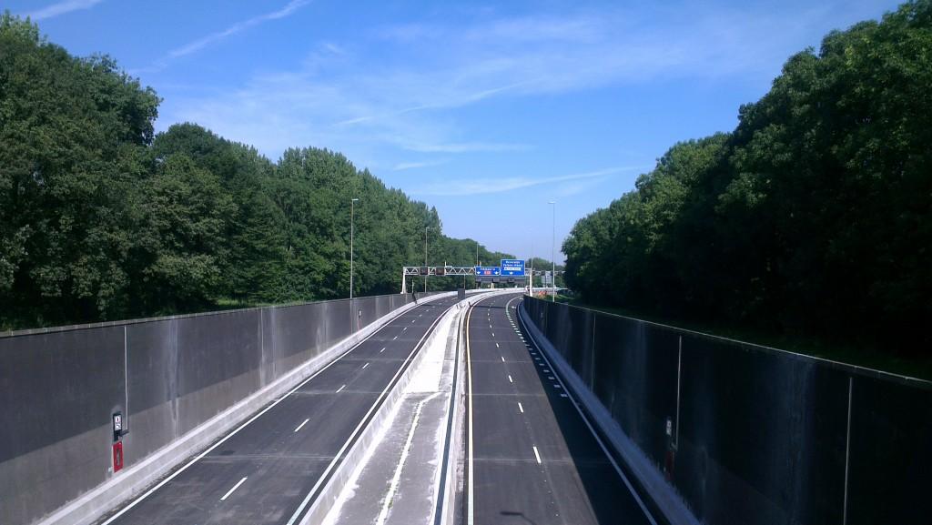 Nachtelijke verkeershinder Velsertunnel