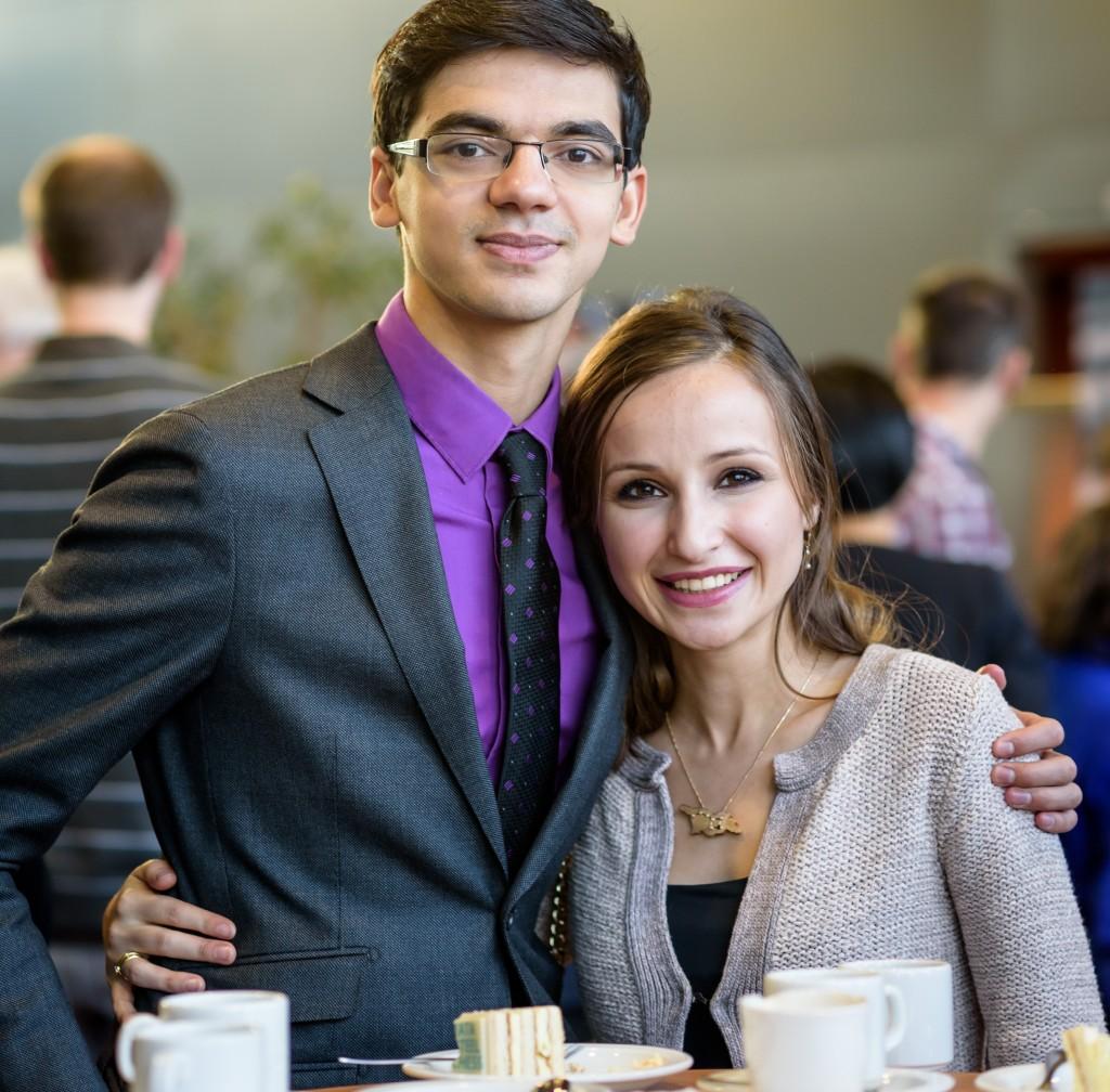 Primeur: echtpaar op hoofdpodium 'chess'