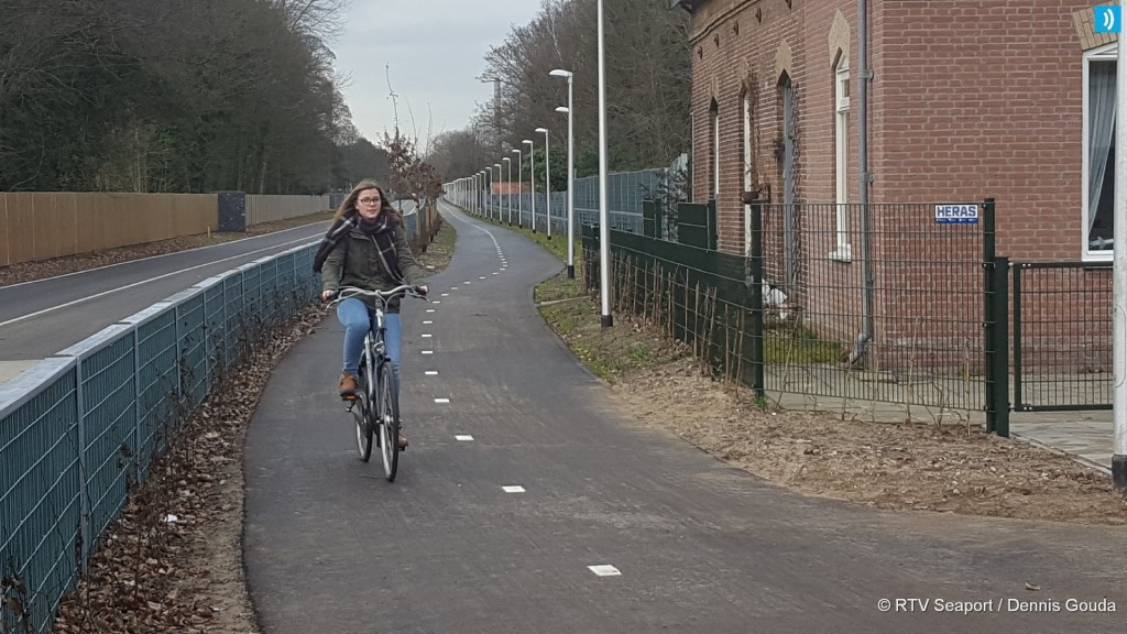 Fietspad lang HOV tracé geopend