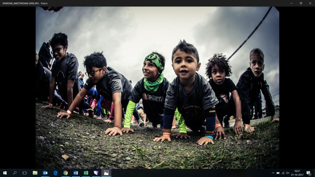 kinderen spartan run