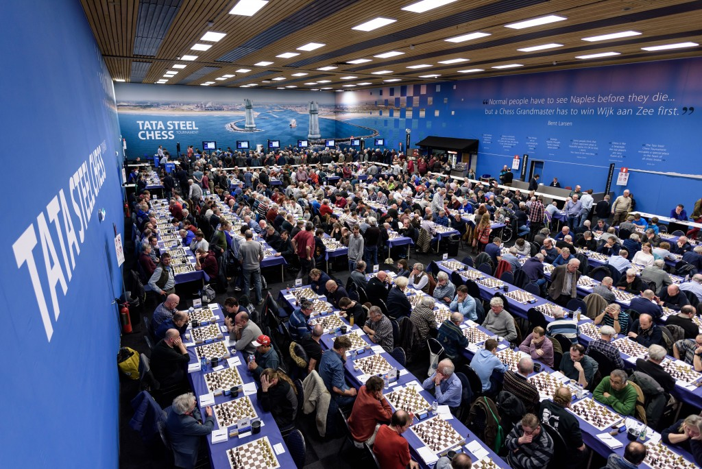 Grote belangstelling amateurs voor Tata Steel Chess Tournament