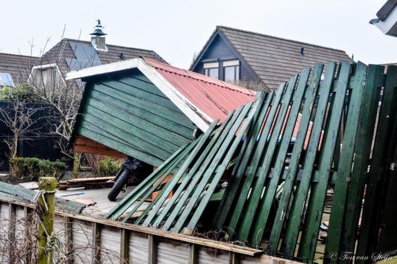 Ook in Velsen schade door zware storm