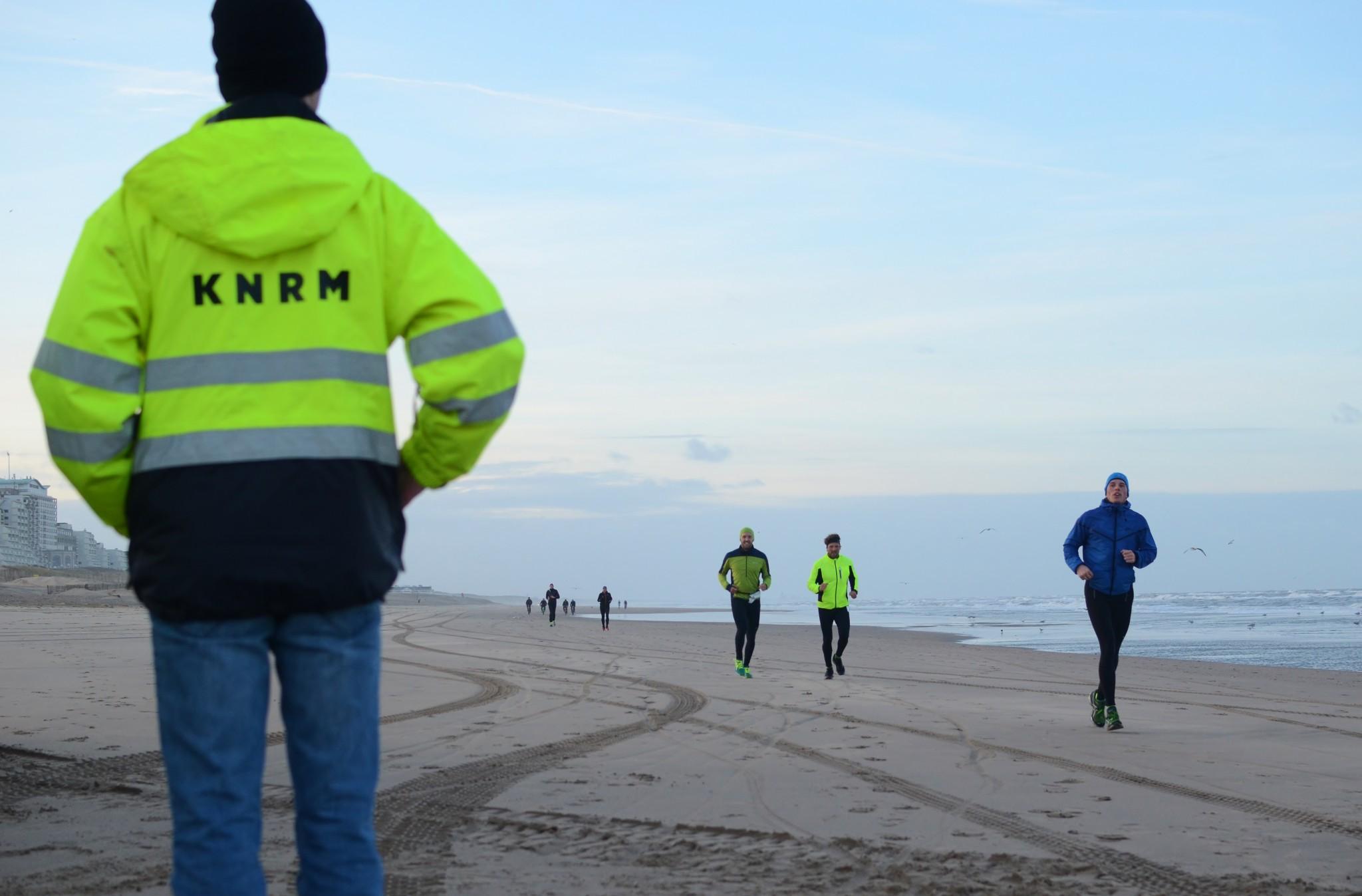 Rennen en fietsen voor de KNRM