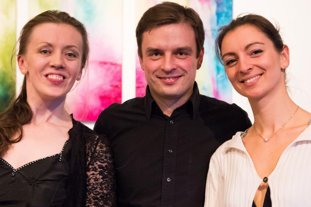Trio met twee fluitistes en een pianist