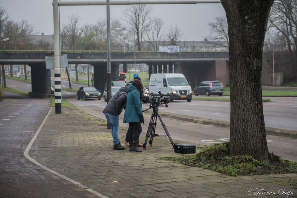 Filmopnames van het Pontplein
